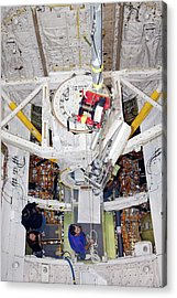 Space Shuttle Discovery Fuel Cell Acrylic Print by Frankie Martin/nasa