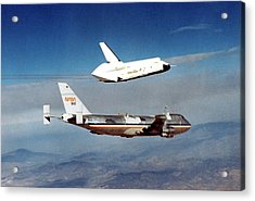 Space Shuttle Prototype Testing Acrylic Print by Nasa