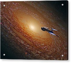 Space The Final Frontier Acrylic Print by Movie Poster Prints