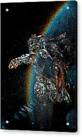 Space Turtle Acrylic Print by Petros Yiannakas