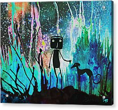 Space Walk Acrylic Print by Sara Henry
