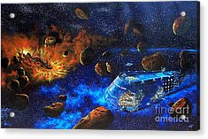 Spaceship Titanic Acrylic Print by Murphy Elliott