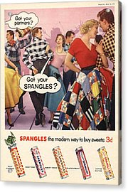 Spangles 1956 1950s Uk Sweets Party Acrylic Print by The Advertising Archives