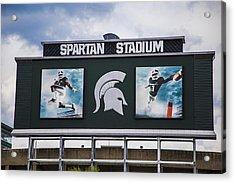 Spartan Stadium Scoreboard  Acrylic Print by John McGraw