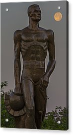 Sparty And Moon Acrylic Print by John McGraw