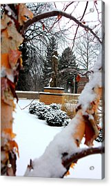 Sparty In The Winter Acrylic Print by John McGraw