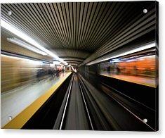 Speed Acrylic Print by Brian Carson