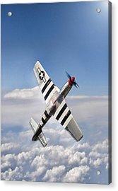 Speed Climb P-51 Acrylic Print by Peter Chilelli