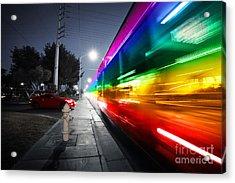 Speeding Bus Blurred Motion Acrylic Print by Konstantin Sutyagin