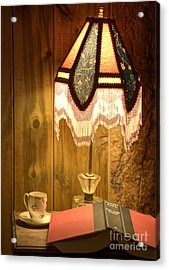 Spencer Bedside Table Acrylic Print by Juli Scalzi