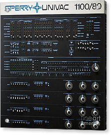 Sperry Univac 1100 Acrylic Print by Edward Fielding