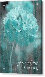 Sphere Floral - Gr13tq - Frienship Acrylic Print by Variance Collections