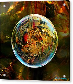 Sphere Of Refractions Acrylic Print by Robin Moline