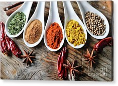 Spices Acrylic Print by Jelena Jovanovic