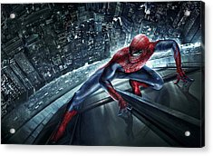 Spider Man 210 Acrylic Print by Movie Poster Prints