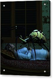 Spider Nightmare Acrylic Print by Daniel Eskridge