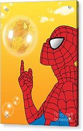 Spiderman 3 Acrylic Print by Mark Ashkenazi