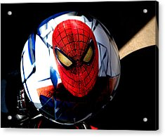 Spiderman Acrylic Print by Bruce Iorio
