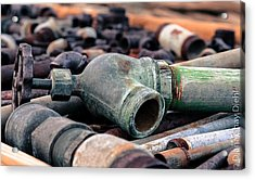 Spigots And Pipes Acrylic Print by Diana Shay Diehl