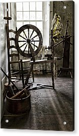 Spinning Wheel Acrylic Print by Peter Chilelli