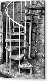 Spiral Steps - Old Sandstone Church Acrylic Print by Kaye Menner