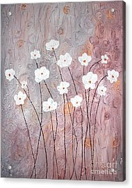 Spiral Whites Acrylic Print by Home Art