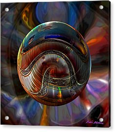 Spiraling The Vatican Staircase Acrylic Print by Robin Moline