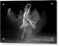 Spirit Dance In Black And White Acrylic Print by Cindy Singleton