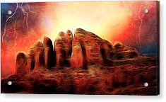 Spirit Mountain Acrylic Print by Ellen Heaverlo