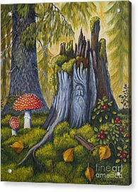 Spirit Of The Forest Acrylic Print by Veikko Suikkanen