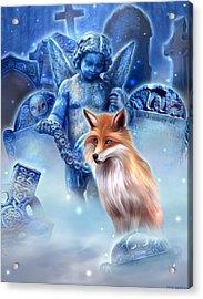 Spirit Of The Fox Acrylic Print by Kerri Ann Crau
