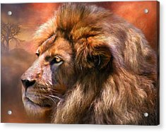 Spirit Of The Lion Acrylic Print by Carol Cavalaris