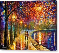 Spirits By The Lake - Palette Knife Oil Painting On Canvas By Leonid Afremov Acrylic Print by Leonid Afremov