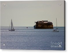 Spitbank Fort Martello Tower Acrylic Print by Terri Waters