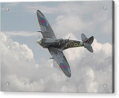 Spitfire - Elegant Icon Acrylic Print by Pat Speirs