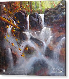 Splash And Trickle Acrylic Print by Mohamed Hirji