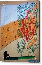 Splendid Grass Acrylic Print by Mike Manzi