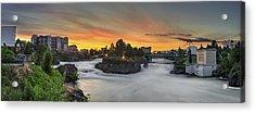 Spokane Sunrise Acrylic Print by Michael Gass