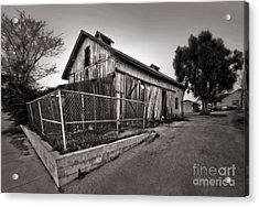 Spooky Chino Barn - 01 Acrylic Print by Gregory Dyer