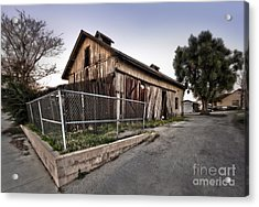 Spooky Chino Barn Acrylic Print by Gregory Dyer