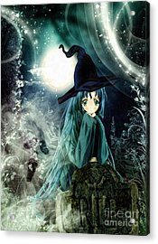 Spooky Night Acrylic Print by Mo T