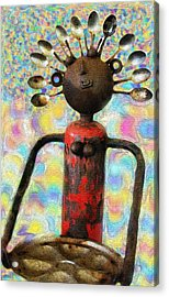 Spoon Woman Acrylic Print by Karon Melillo DeVega