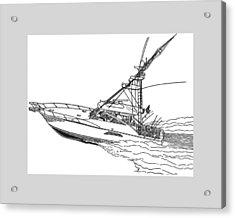 Sportfishing Yacht Acrylic Print by Jack Pumphrey