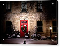 Spotlight On Christmas Acrylic Print by Paul Wash