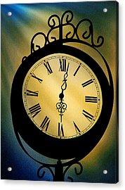 Spotlight On Time Acrylic Print by Mike Flynn