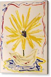 Spotlight On Yellow Acrylic Print by Mary Carol Williams
