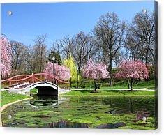 Spring At Italian Lake Acrylic Print by Lori Deiter