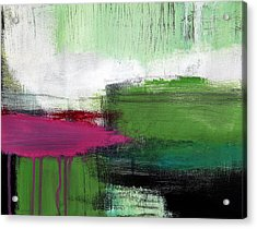 Spring Became Summer- Abstract Painting  Acrylic Print by Linda Woods
