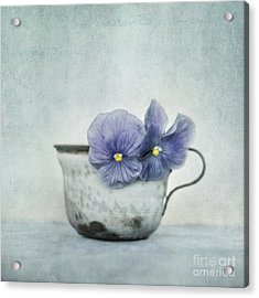 Spring Blues With A Hint Of Yellow Acrylic Print by Priska Wettstein