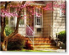 Spring - Door - Dogwood  Acrylic Print by Mike Savad